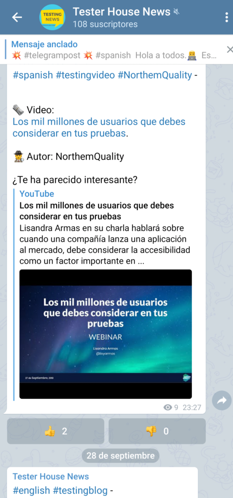 testerhouse canal de telegram